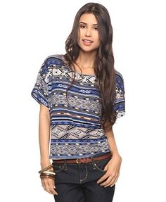 Tribal Print Top - New Arrivals - Apparel - Tops - 2000023410 - Forever21 - StyleSays