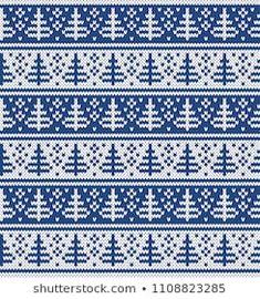 Podobne obrazy, zdjęcia stockowe i ilustracje wektorowe: Christmas and New Year Design Seamless Knitting Pattern — 494119693 Knitting Abbreviations, Knitting Charts, Knitting Stitches, Knitting Patterns, Fair Isle Chart, New Year Designs, Christmas And New Year, Christmas Tree, Fair Isle Knitting