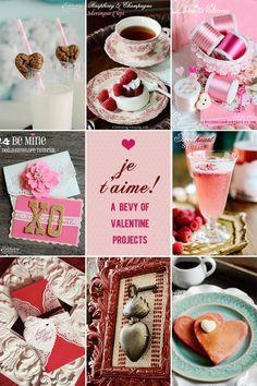 Valentine Projects and Recipes via www.celebratingeverydaylife.com  #Valentines