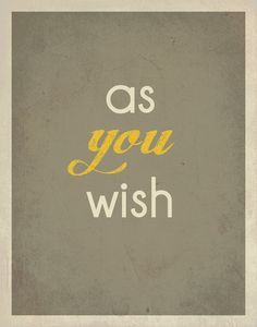 """Typography / The Princess Bride Quote / 11"""" x 14"""" Poster Print / Movie Quote / Minimalist Wall Art. $15.00, via Etsy."""