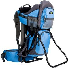 610434e4ab Clevr Canyonero Camping Baby Backpack Hiking Kid Toddler Child Carrier with  Stand & Sun Shade Visor, Blue