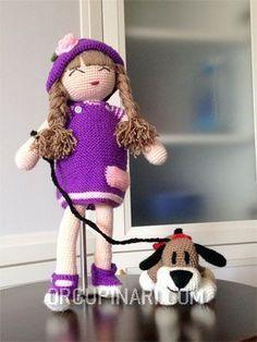 KÖPEKLİ KIZ (1) – Örgü Pınarı Booties Crochet, Crochet Hats, Pet Toys, Doll Toys, Crochet Disney, Wedding Doll, Toy Boxes, Crochet Animals, Diy And Crafts
