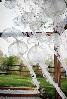 Medusas, decoración de boda campestre