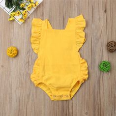 Newborn Baby Girl Ruffled Solid Color Sleeveless Backless Romper Jumps – Center Of Treasures Baby Girl Jumpsuit, Jumpsuit Outfit, Baby Girl Romper, Baby Girl Newborn, Baby Girls, Toddler Jumpsuit, Jumpsuits For Girls, Girls Rompers, Girls Summer Outfits