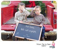 Dear Santa.. We can explain!  Cute Holiday inspired family session.  #santa #holiday #christmas
