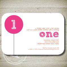 BIG BALLOON -  Custom Personalised Printable Invitation on Etsy, $13.00