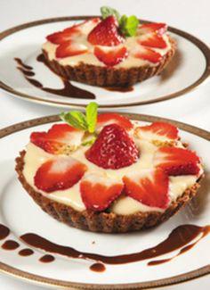 Tartaletas de chocolate con fresas - Recetas