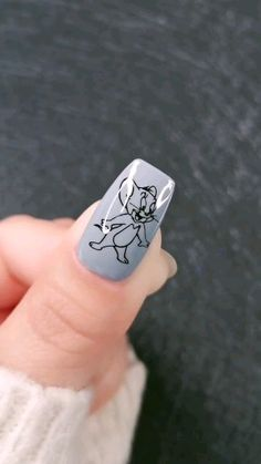 In seek out some nail designs and some ideas for your nails? Here is our set of must-try coffin acrylic nails for modern women. Nail Art Disney, Disney Acrylic Nails, Best Acrylic Nails, Halloween Acrylic Nails, Nail Art Designs Images, Acrylic Nail Designs, Cartoon Nail Designs, Nail Swag, Stylish Nails