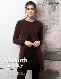 Strickanleitung Braune Tunika Lang Yarns Style Edition 0216