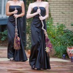 Bridemaid brooms vs. bouquets