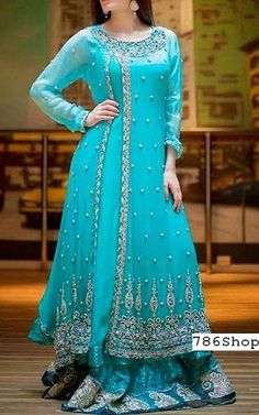 Buy Pakistani Designer Party Dresses online shopping from our collection of Indian Pakistani fancy Party wear fashion suits for USA, UK, Canada, Australia. Pakistani Dresses Online Shopping, Party Dresses Online, Online Dress Shopping, Designer Party Wear Dresses, Indian Designer Outfits, Designer Wear, Pakistani Wedding Dresses, Pakistani Gowns, Pakistani Clothing