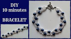 DIY 10 minutes bracelet. Beading tutorial for beginners. - YouTube
