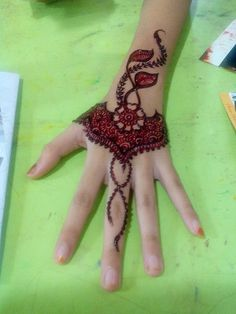 Colored Henna Tattoo Designs Image 3 #hennatattoo