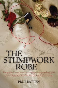 The cover of the first edition of The Stumpwork Robe (Book One of The Chronicles of Eirie) designed by Salt Studio