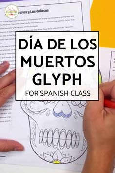 This activity includes a reading in English about the influence and importance of two popular Day of the Dead images - las calaveras y las calacas! There is a glyph activity to go with the reading- students read the questions and color the calavera to show their answers. Perfect for a print and go lesson plan for Day of the Dead or Día de los Muertos - or post and go with a digital option! Also a handy sub plan - click to see more! High School Spanish, Spanish Class, Spanish 1, Spanish Lesson Plans, Spanish Lessons, Dead Images, Students, Class Decoration, Student Reading