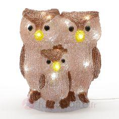 Lampe décorative d'ext. LED Famille chouette, référence 5527005- Décoration, DIY et lumière de Noël chezLuminaire.fr!