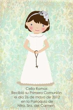 ¡Qué dulces recordatorios de comunion e invitaciones! Baptism Cookies, First Communion Invitations, Child Smile, Kool Kids, Silhouette Portrait, My Princess, Cute Drawings, Christening, Special Day