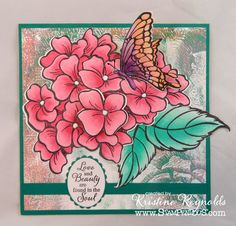 Stamping & Scrapping in California: Jumbo Hydrangea Garden-Sneak Peek