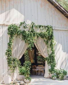 Greenery barn wedding entrance decor  #wedding #weddings #weddingideas #deerpearlflowers #dpf