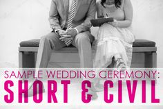 Sample Civil Wedding Ceremony | A Practical Wedding