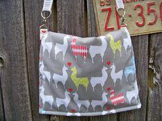 A personal favorite from my Etsy shop https://www.etsy.com/listing/156657246/organic-llama-love-alpaca-messenger-bag