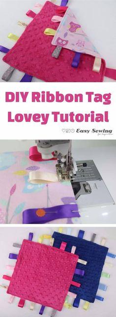 DIY ribbon tag lovey