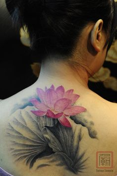 lotus tattoo - i love lotus flower tattoos.... love the meaning of the lotus flower!