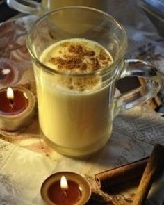 Eggnog, just a pinch of winter charm Just A Pinch, Winter Drinks, Pudding, Treats, Desserts, Instagram, Food, Sweet Like Candy, Meal