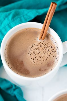 Caramelized Cinnamon Hot Chocolate is an easy to make, super indulgent, and amazingly delicious dessert. It's a sure cure for the winter blues!