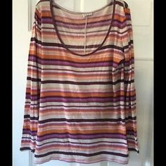 Intimately Free People  cotton tee Fabulous cotton tee from Free People. Side label has been removed, but it is a large. Underarm across 15 inches. Length 27 inches. Bundle for even bigger savings! Offers welcome. No trades. Free People Tops Tees - Long Sleeve