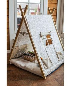 Kids Tents, Teepee Kids, Teepees, Diy Teepee, Foto Baby, Baby Furniture, Kid Spaces, Girl Room, Diy For Kids