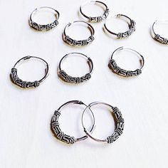 Guys Ear Piercings, Unisex, Bali, Hoop Earrings, Tattoos, My Style, Silver, Etsy, Jewelry