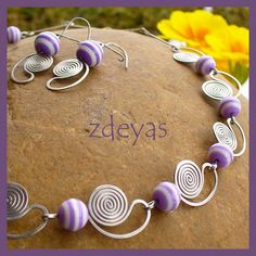 wire spiral necklace