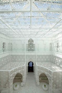 Lacy light at the Royal Mansour Hotel Spa, Marrakech.