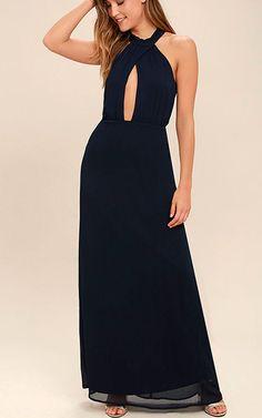 Beyond Explanation Navy Blue Maxi Dress via @bestmaxidress