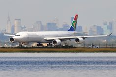 South African Airways (SAA) - Airbus A340-600 - ZS-SNF - John F. Kennedy International Airport (JFK) - September 19, 2011 2 036 RT CRP by TVL1970, via Flickr