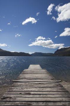 Lake Gutierrez pier, Lake District, San Carlos de Bariloche, Rio Negro Province, Patagonia, Argentina