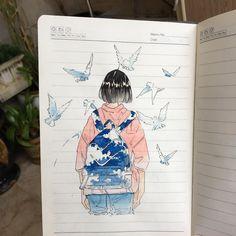 drawings of sketches Pretty Art, Cute Art, Character Illustration, Illustration Art, Character Art, Character Design, Notebook Art, Art Diary, Arte Sketchbook