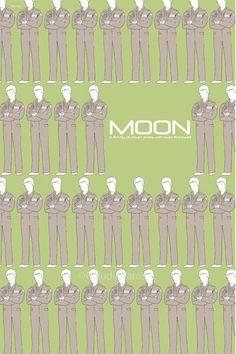 Moon (2009) - Minimal Movie Poster by Claudia Varosio #minimalmovieposter #alternativemovieposter #claudiavarosio