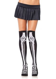 Roller Derby Apparel & Clothing | OVER THE KNEE SKELETON SOCKS ...   dressderby.com-388 × 550-Search by image OVER THE KNEE SKELETON SOCKS (BLACK). $9.99. 5 in stock