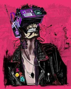 amazing piece by daily Arte Cyberpunk, Cyberpunk Anime, Cyberpunk 2020, Cyberpunk Aesthetic, Cyberpunk Character, Character Inspiration, Character Art, Character Design, Arte Robot