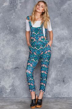 Strawberry Thief Overalls - LIMITED ($120AUD) by BlackMilk Clothing