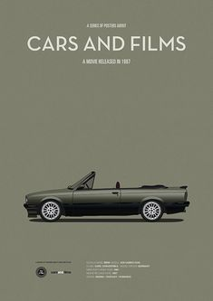 Poster of the car from Der Himmel über Berlin. Illustration Jesús Prudencio. Cars And Films