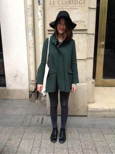 COS Manteau, blouson - COS Derbies, mocassins, bateau - ASOS Chapeau #women #mode #look #streetstyle http://moodlook.com/look/2014-04-18-france-paris-3