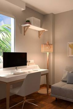 The most modern home office ideas for women & the best home office ideas for small spaces; combined into 16 modern workspaces for a female boss to DIY on a budget!