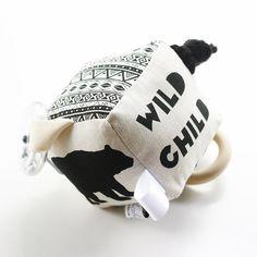 Wild Child Soft Baby Activity Rattle Teether Block by BabeeandMe