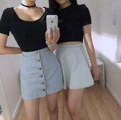 This denim circle skirt is so cute!!