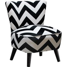 Dot & Bo Ziggy Accent Chair found on Polyvore featuring home, furniture, chairs, accent chairs, chevron furniture, chevron chair and zig zag chair
