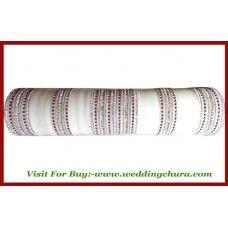 White bridal Chura CH-148 Indian American Weddings, Bridal Chura, Our Wedding, Wedding Ideas, White Bridal, American Indians, Indian Fashion, Wedding Jewelry, Diys