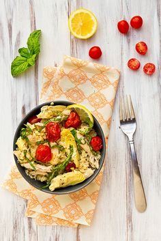 Lemony Orzo with Chicken & Cherry Tomatoes by foodiebride, via Flickr